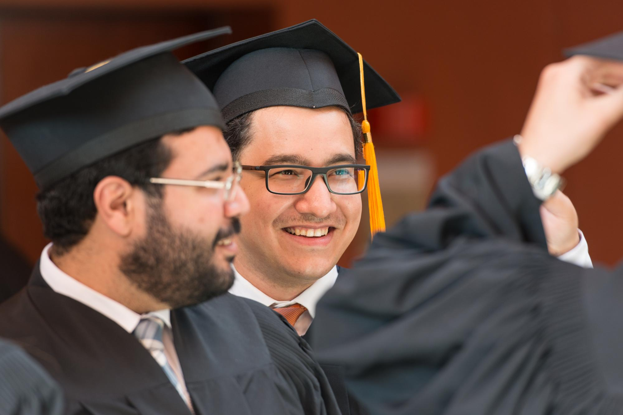 students in graduation ceremony