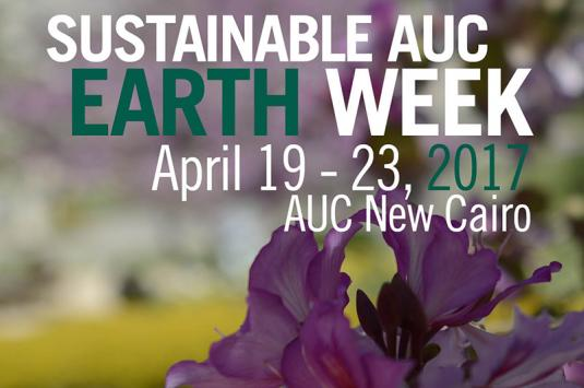 AUC's Earth week will run from April 19 - 23